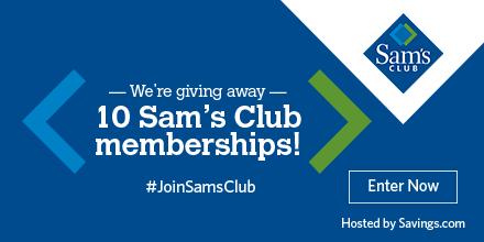 Win a $100 Sam's Club Membership!