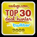 Savings.com Top 30 Deal Hunter on Twitter