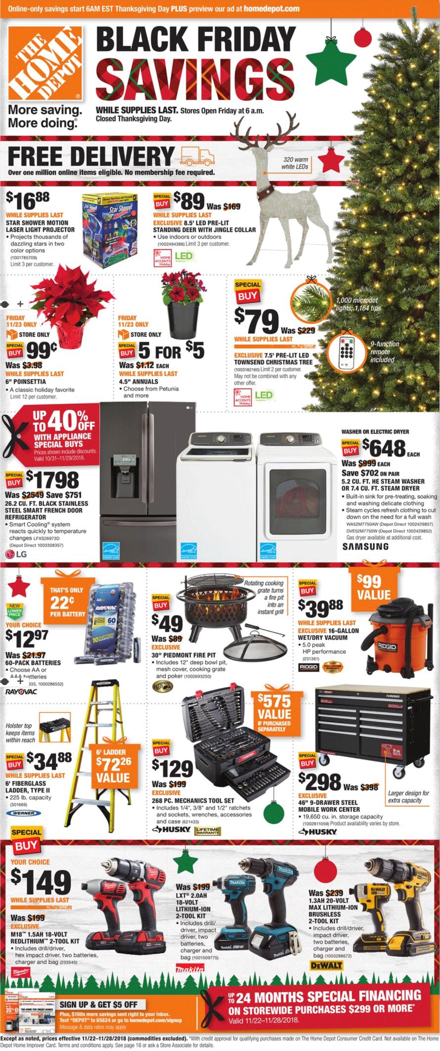 Home Depot Black Friday 2019 Ad Savings Com