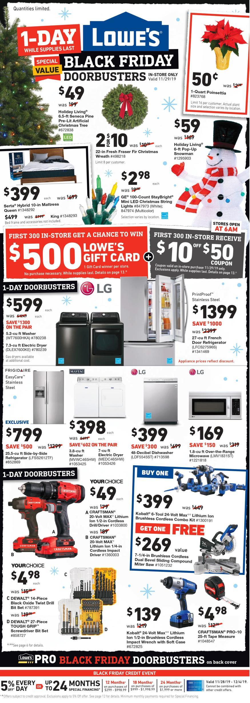Lowe S Black Friday 2019 Ad Savings Com