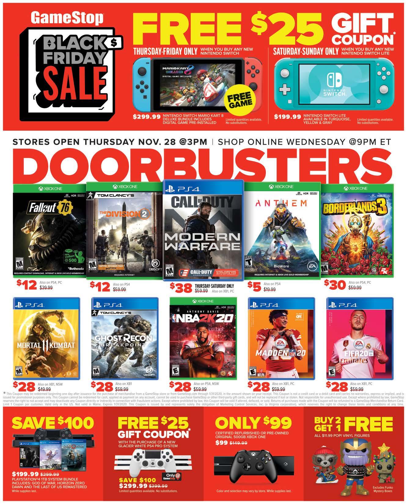 Gamestop Black Friday 2020 Ad Savings Com